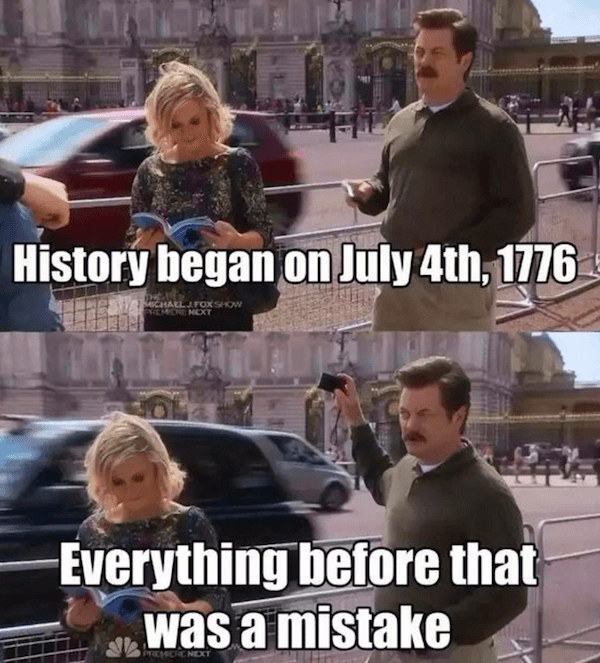 Ron Swanson On July 4th