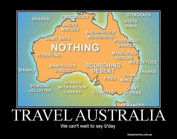 Australia Funny Maps