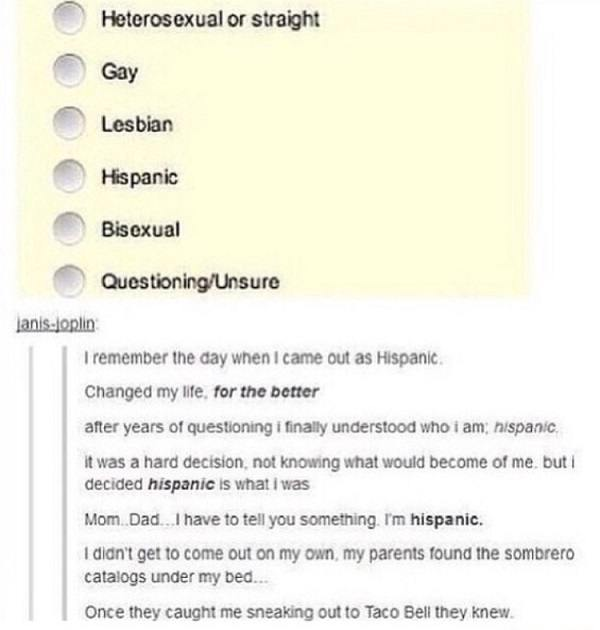 Came Out As Hispanic