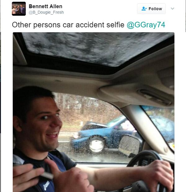 Car Accident Selfie