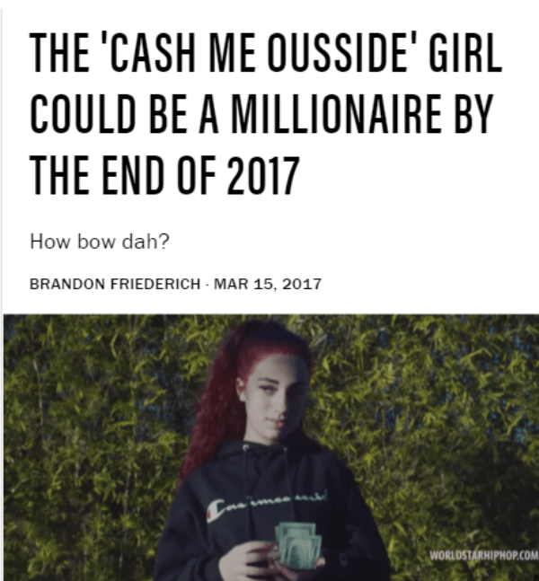 Cash Me Ousside Girl