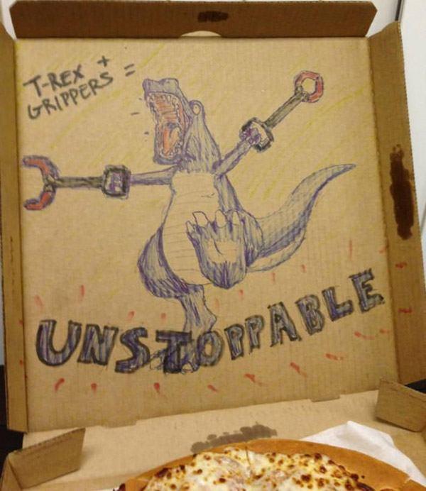 Hilariously Funny Pizza Box Illustrations