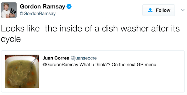 Gordon Ramsay Twitter Burns