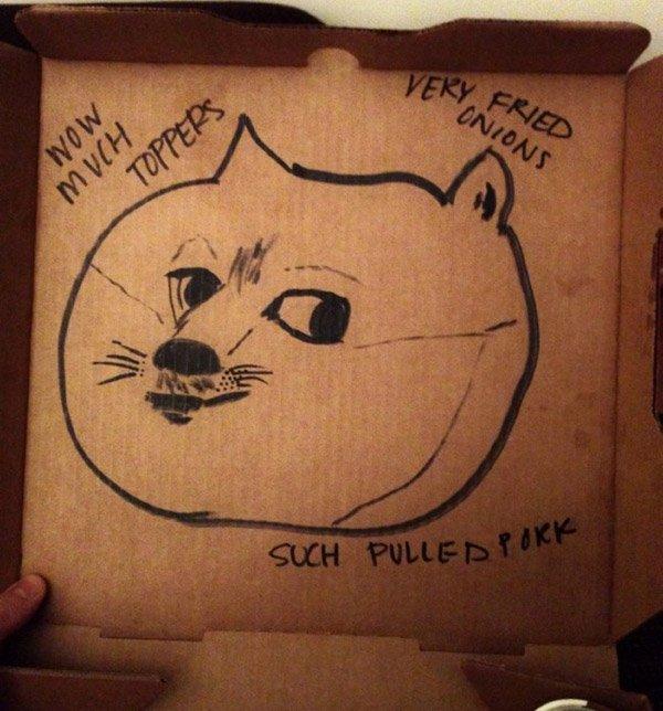 Doge On A Pizza Box