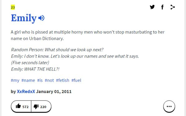 what does emily mean urban dictionary