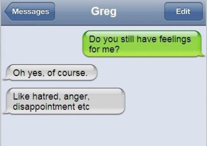 Funny Ex Boyfriend Text