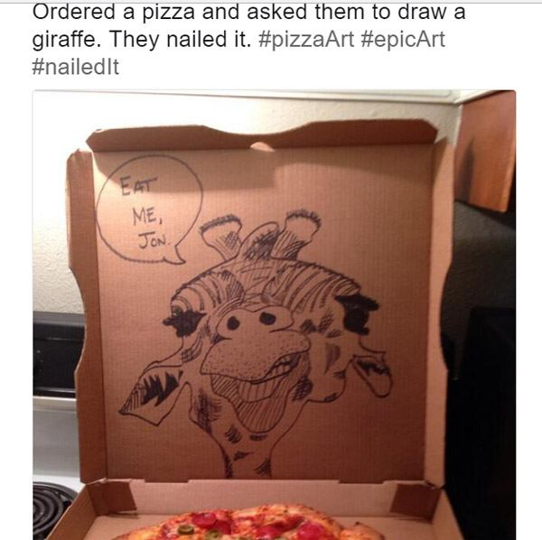 Epic Pizza Box Drawings