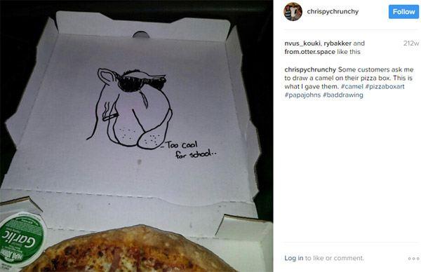 Joe Camel Best Pizza Box Drawings