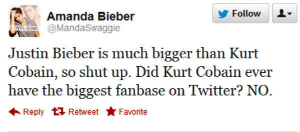 Kurt Cobain Vs Justin Bieber
