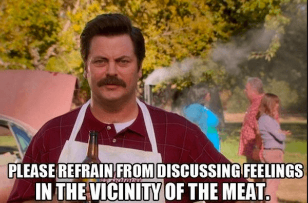 Meat Feelings Funny Ron Swanson Quotes