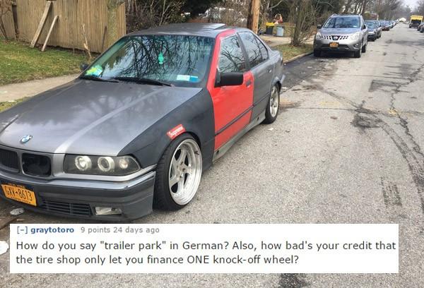 One Wheel Hilarious Car Roasts