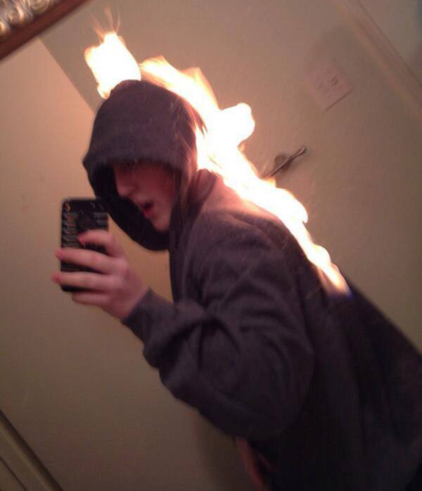 Onfire Selfie