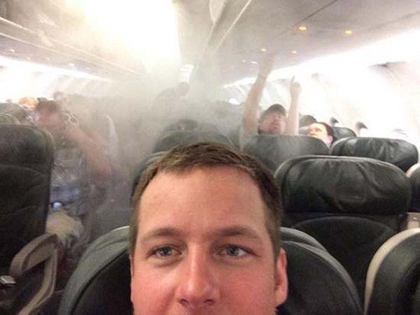 Plane Smoke Selfie