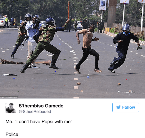 Pepsi Commercial Memes Running From The Police