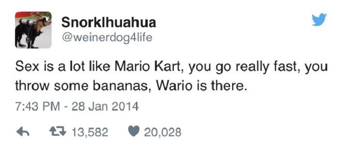 Sex Is Like Mario Kart