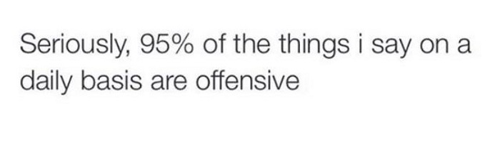 The Things I Say Are Offensive