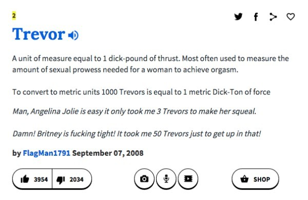 Thrust sexually definition