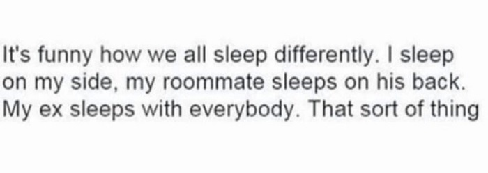 We All Sleep Differently
