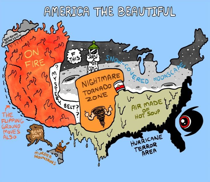 Us Map Funny.35 Funny Maps That Would Have Actually Made Geography Fun