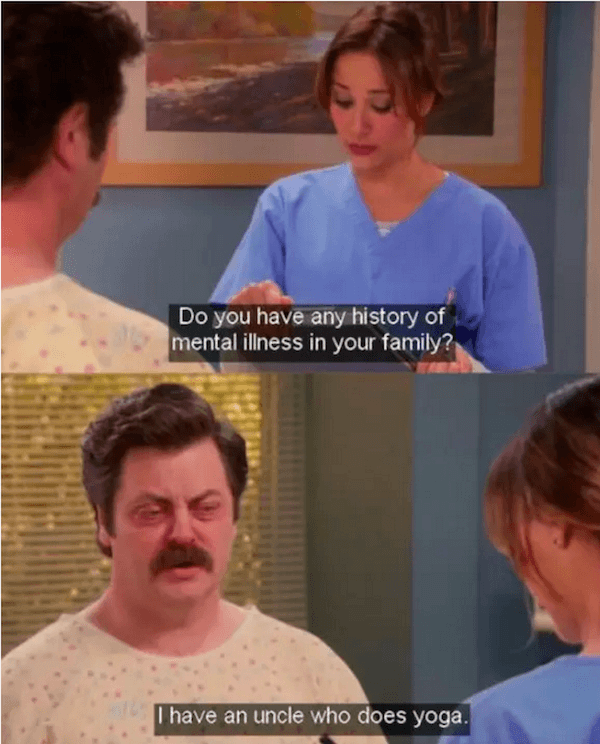 Yoga Ron Swanson Quotes