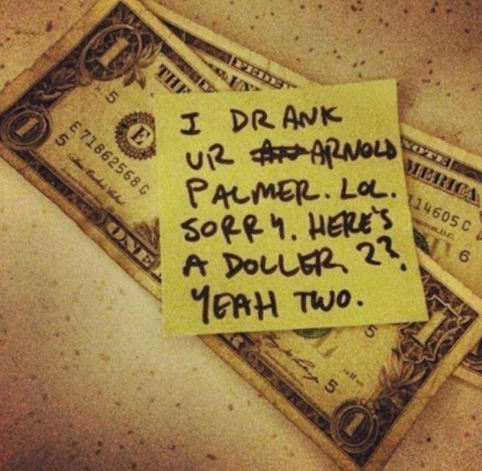 Arnold Palmer Money Funny Drunk Notes