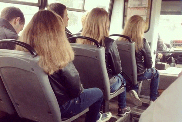 Blonde Bus Girls