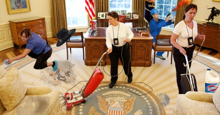 Cleaning White House
