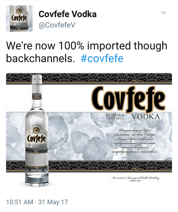 Covfefe Vodka