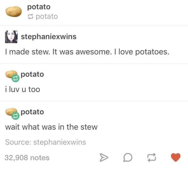Funny Tumblr Jokes Potatoes