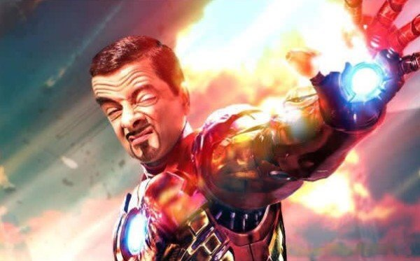 Mr. Bean As Iron Man