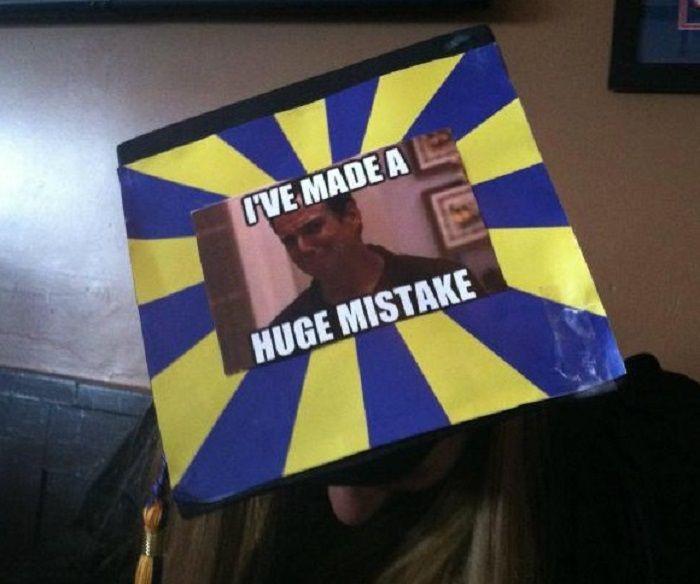 Funny Graduation Cap Meme Messages