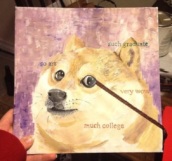 Funny Graduation Caps Doge