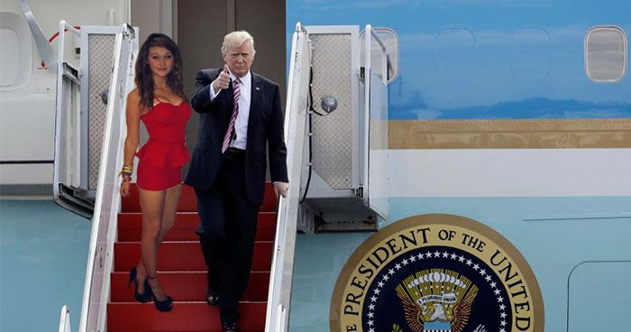 Donald Trump Picks Up New Wife