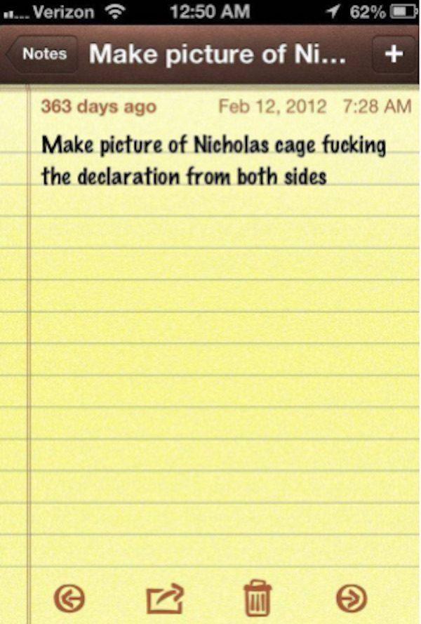 Nick Cage Fucking Declaration
