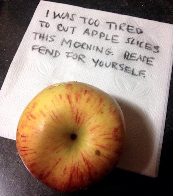 Parent Notes Apple Slices