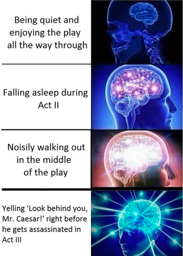 Expanding Mind Memes Going To A Play