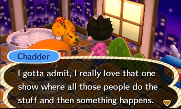 Dirty Animal Crossing Dialog