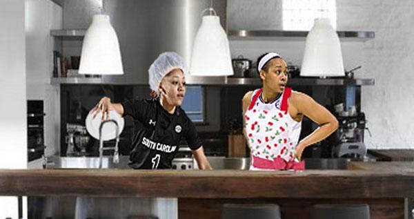 South Carolina Womens Team Washes Dishes At White House