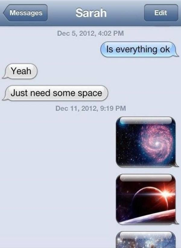 Space Funny Text