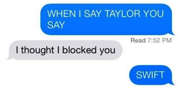 Taylor Swift Funny Texts