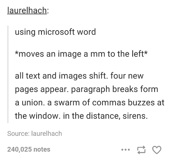 Tumblr Jokes About Microsoft Word
