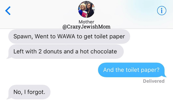 Funny Texts From A Crazy Jewish Mom