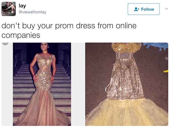 Prom Dress Fails Gold