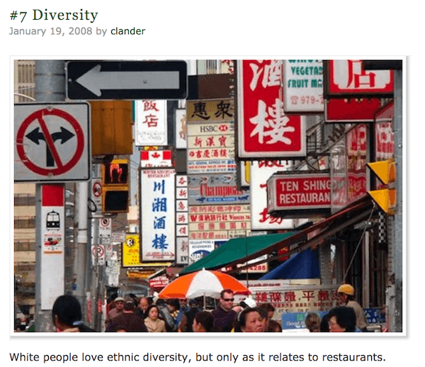 White People Diversity