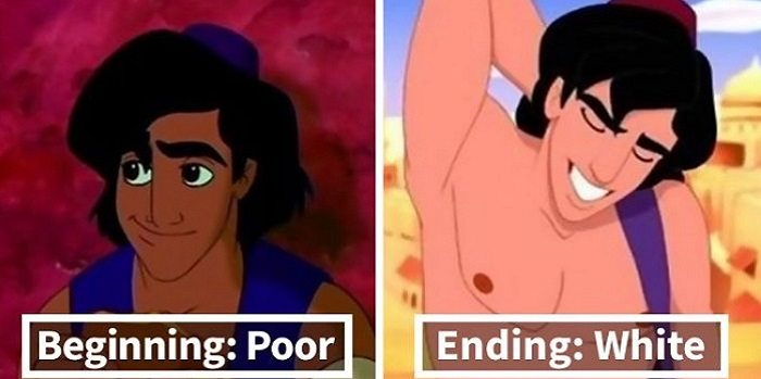 Aladdin Turns White