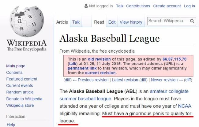 Hilarious Wikipedia Vandalism