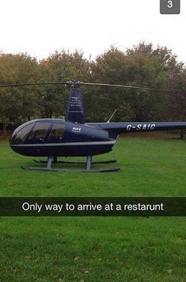 Arriving In Helicopter