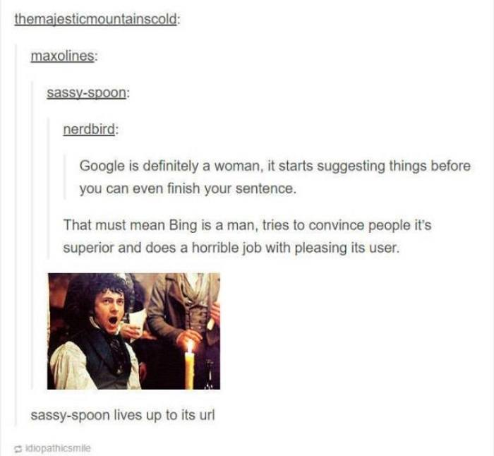 Bing Is A Man