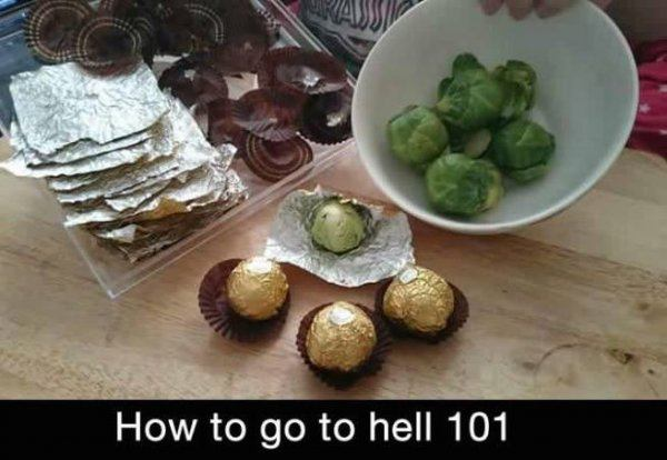 Brussel Sprout Chocolates