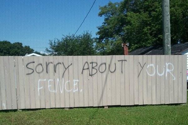 Fence Aplogy